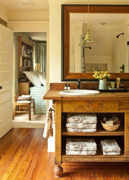 100 Year Old Cottage, 21st Century Remodel. Rustic Chic BathroomsRustic  Bathroom VanitiesFarmhouse ...