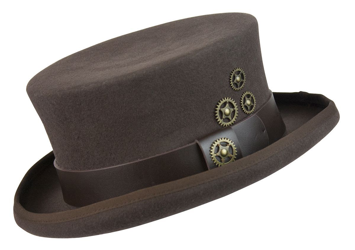 d7bde47606510 The Conner steampunk low crown topper is a new favorite of ours for it s  great looking style. Something about the low-profile 4