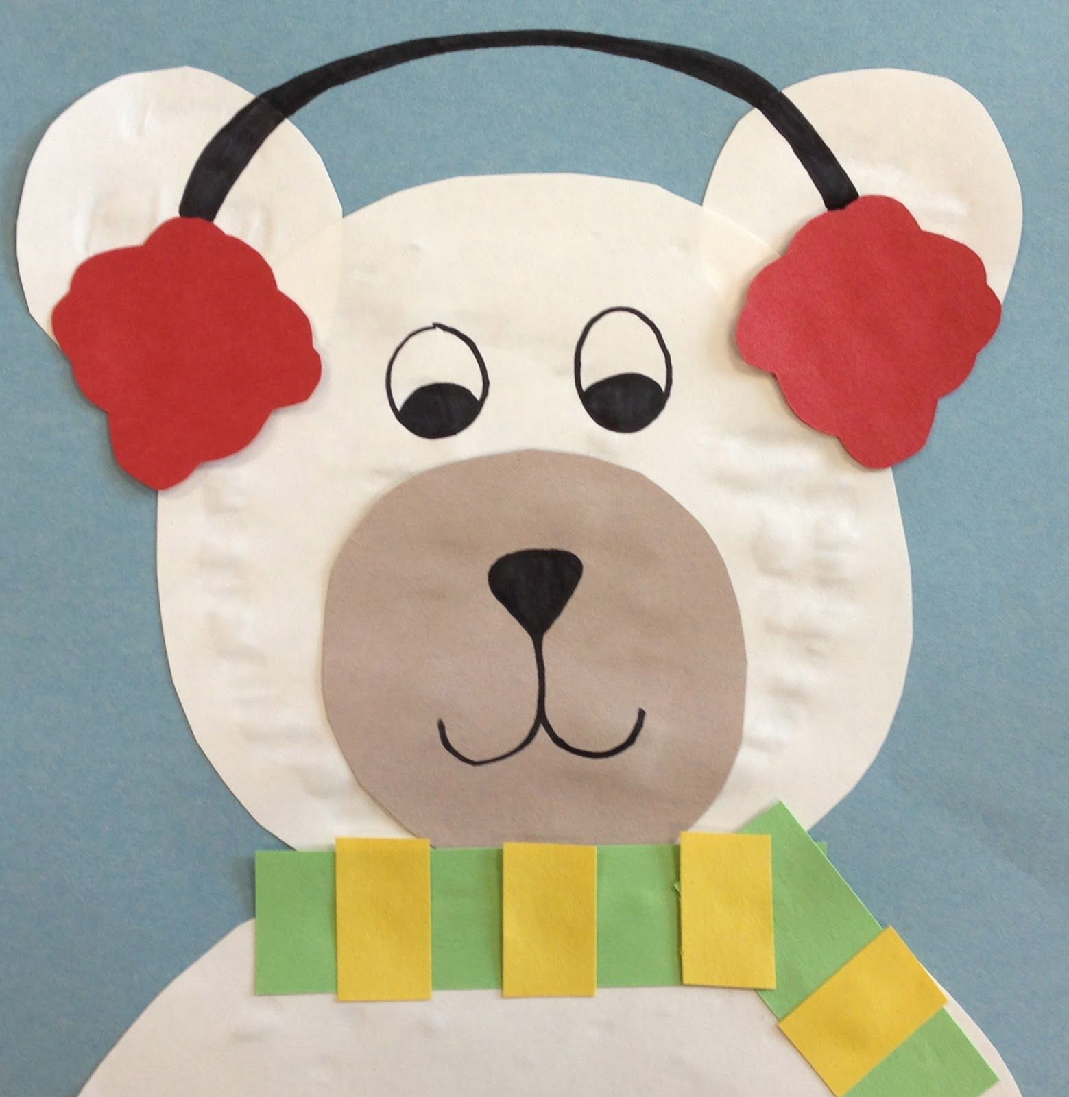 Art Paper Scissors Glue Circles Into Polar Bears