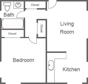 Apartment Rental Floor Plans For 1 And 2 Bedroom Apartments At Burke Crest  Apartments Located In Spencerport NY.