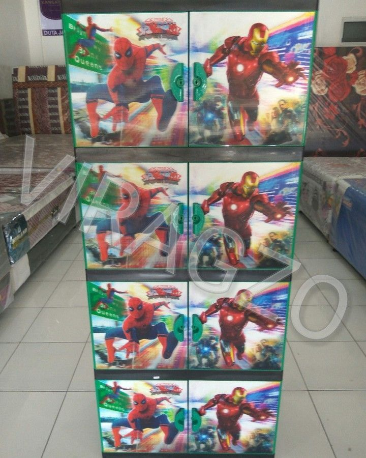 Plastic Cabinets 8 Spiderman and Ironman Doors Rp 450000 Ket…