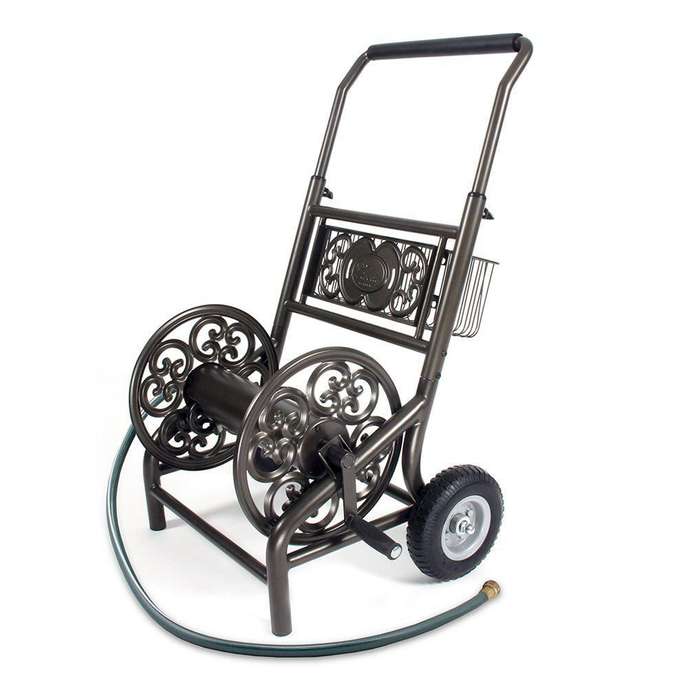 Liberty Garden Decorative 2 Wheel Hose Cart301 Hose