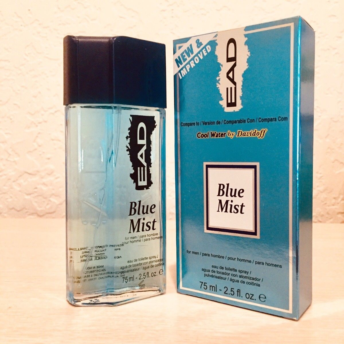 2e2f81558387d BLUE MIST MENS PERFUME BY EAD COMPARE TO COOL WATER BY DAVIDOFF 2.5 FL OZ  (NEW)