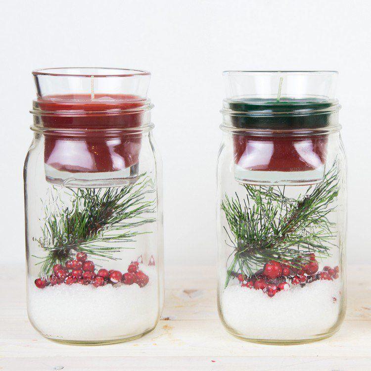 Préférence 30 idées déco Noël DIY avec bocaux en verre personnalisés | Bougie  EN44
