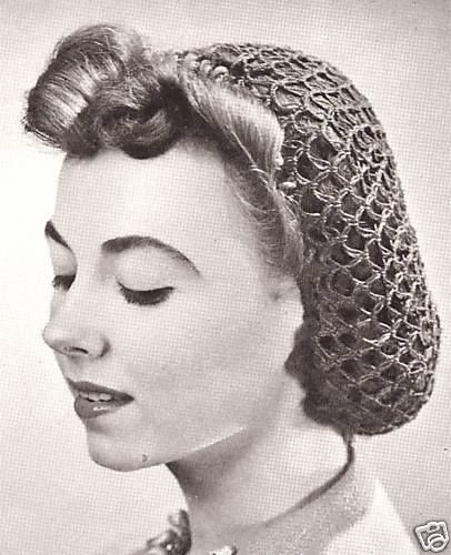 1940s Hair Snoods Buy Knit Crochet Or Sew A Snood Gd