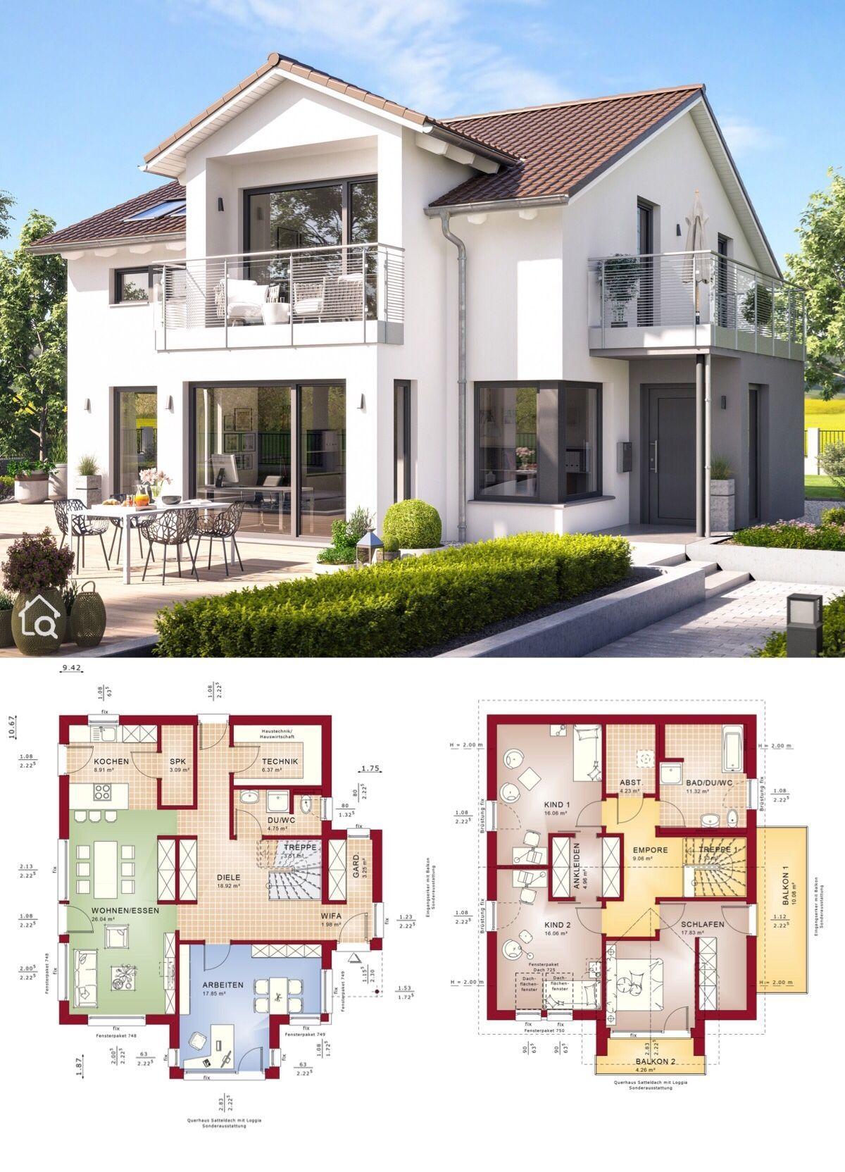 Einfamilienhaus EVOLUTION 164 V3 mit Balkon -   HausbauDirekt.de