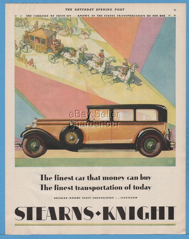 1928 Stearns Knight Sales Corp Cleveland Ohio Four Door Sedan ...