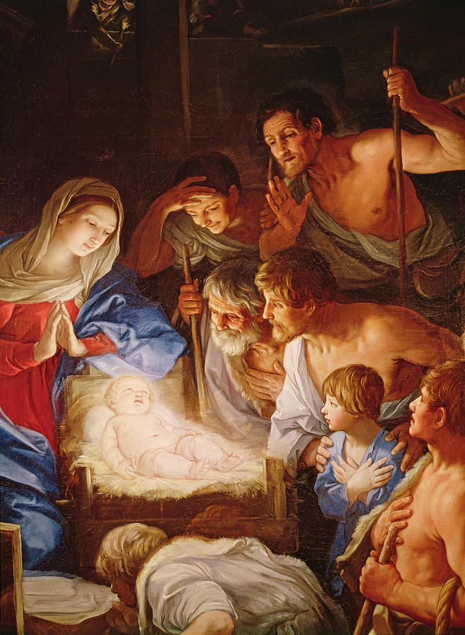 Guido reni 1575 1642 the adoration of the shepherds for Christian mural paintings