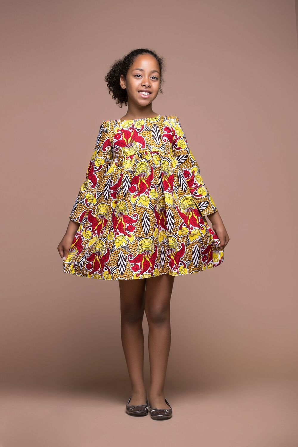 372dba15b3d551 AFRICAN PRINT NATA KID'S DRESS | Products | Kids outfits, African ...