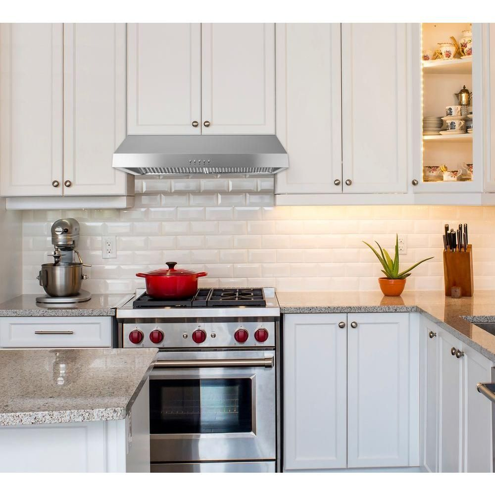 Presenza 30 In Under Cabinet Ducted Range Hood With Light And