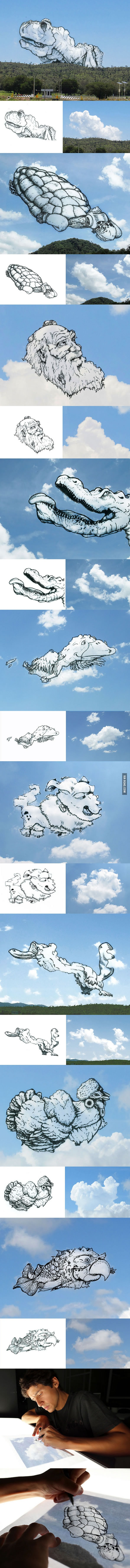 Artist Turns Clouds Into Illustrations