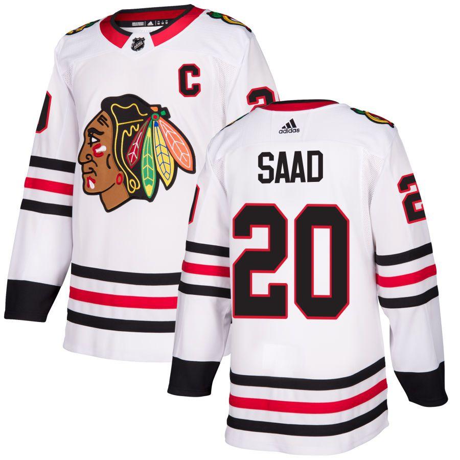Men S Chicago Blackhawks Adidas White Authentic Custom Jersey Chicago Blackhawks Custom Jerseys Nhl Jerseys