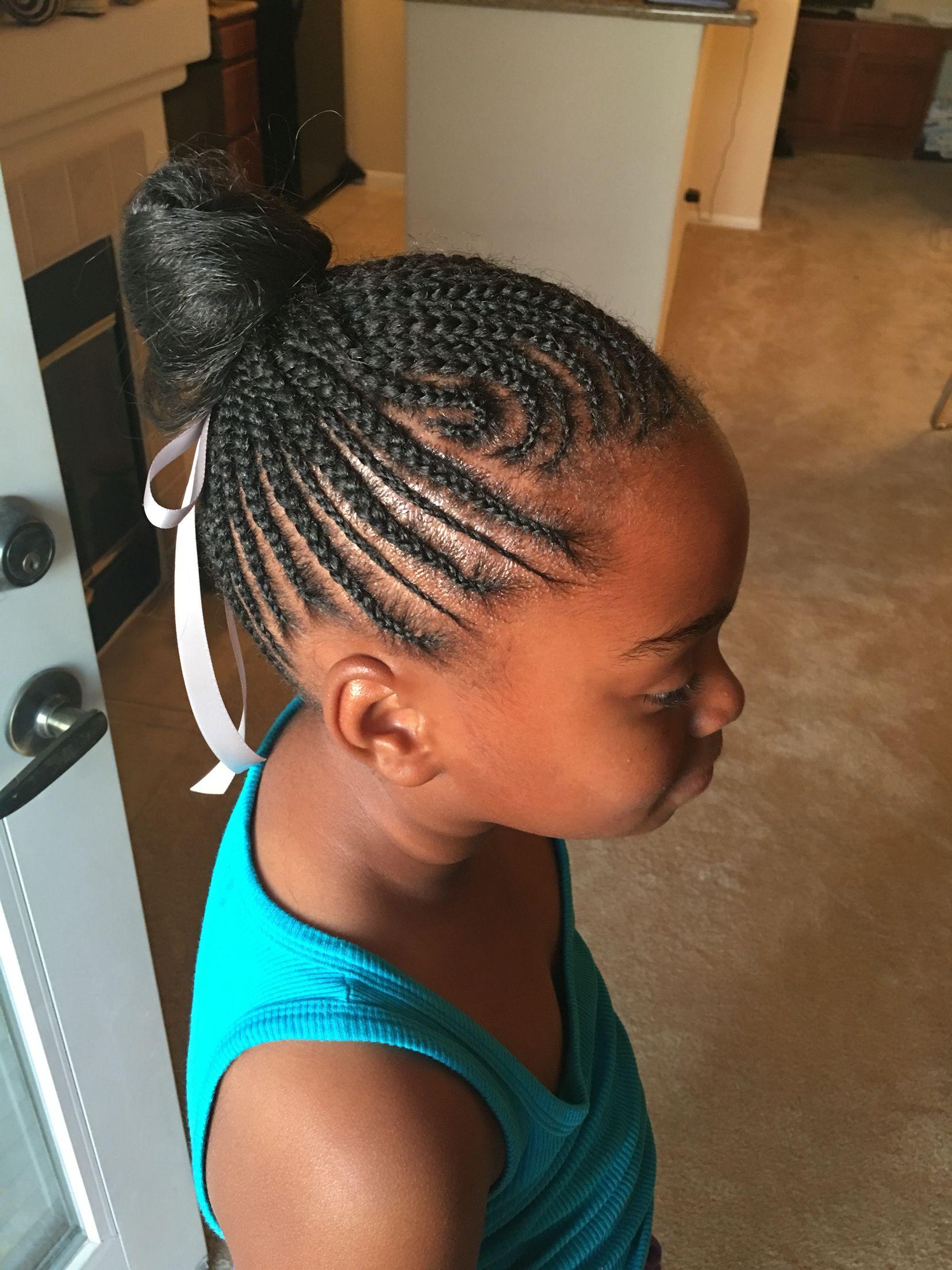 Little Braid Big Breed, Cornrows, Little Black Girl Hair, Updo, African