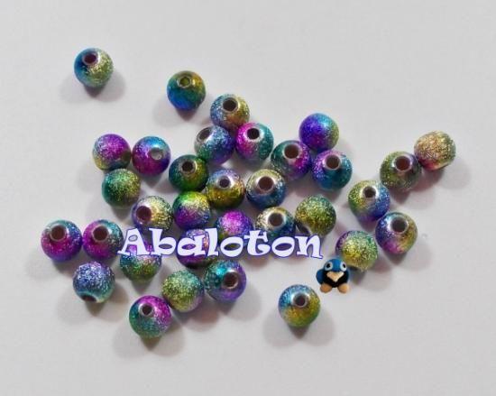 bolas acrilicas metalizadas multicolor 6mm