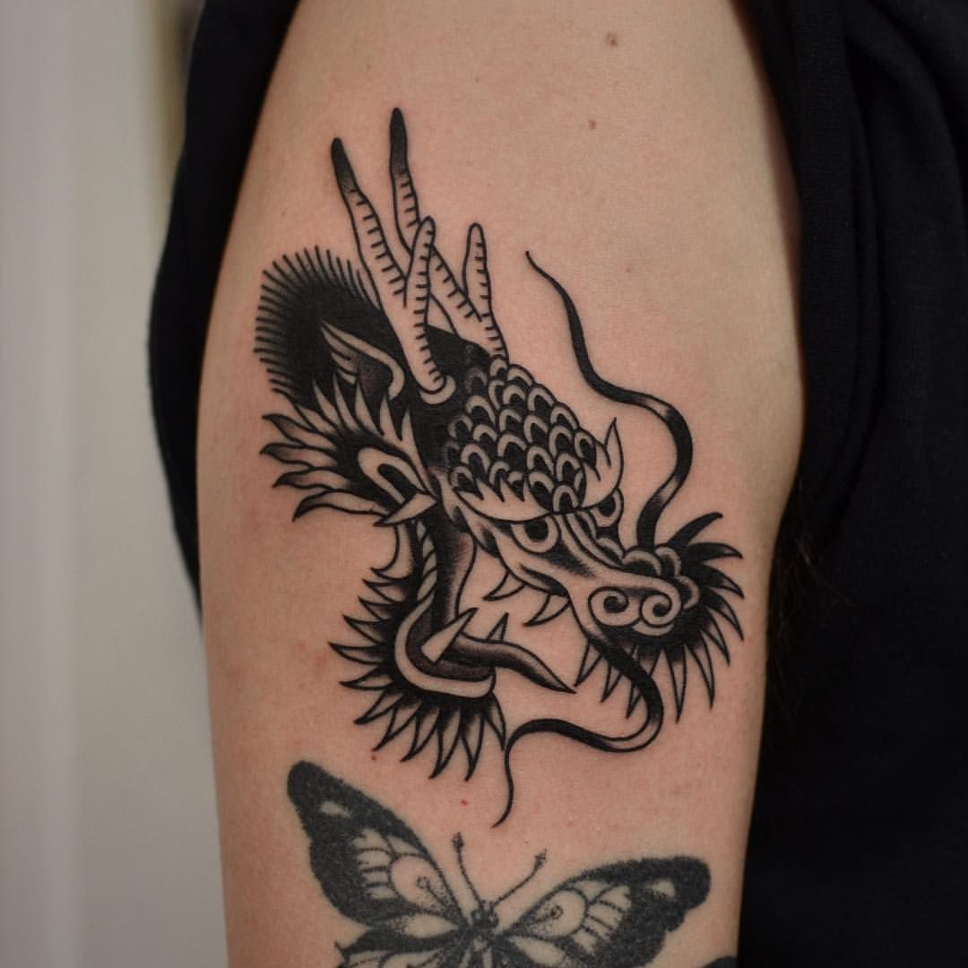 2 201 Likes 6 Comments Florian Santus Floriansantus On Instagram Thank You Felipebuigues Safe Trav Dragon Head Tattoo Body Art Tattoos Black Tattoos
