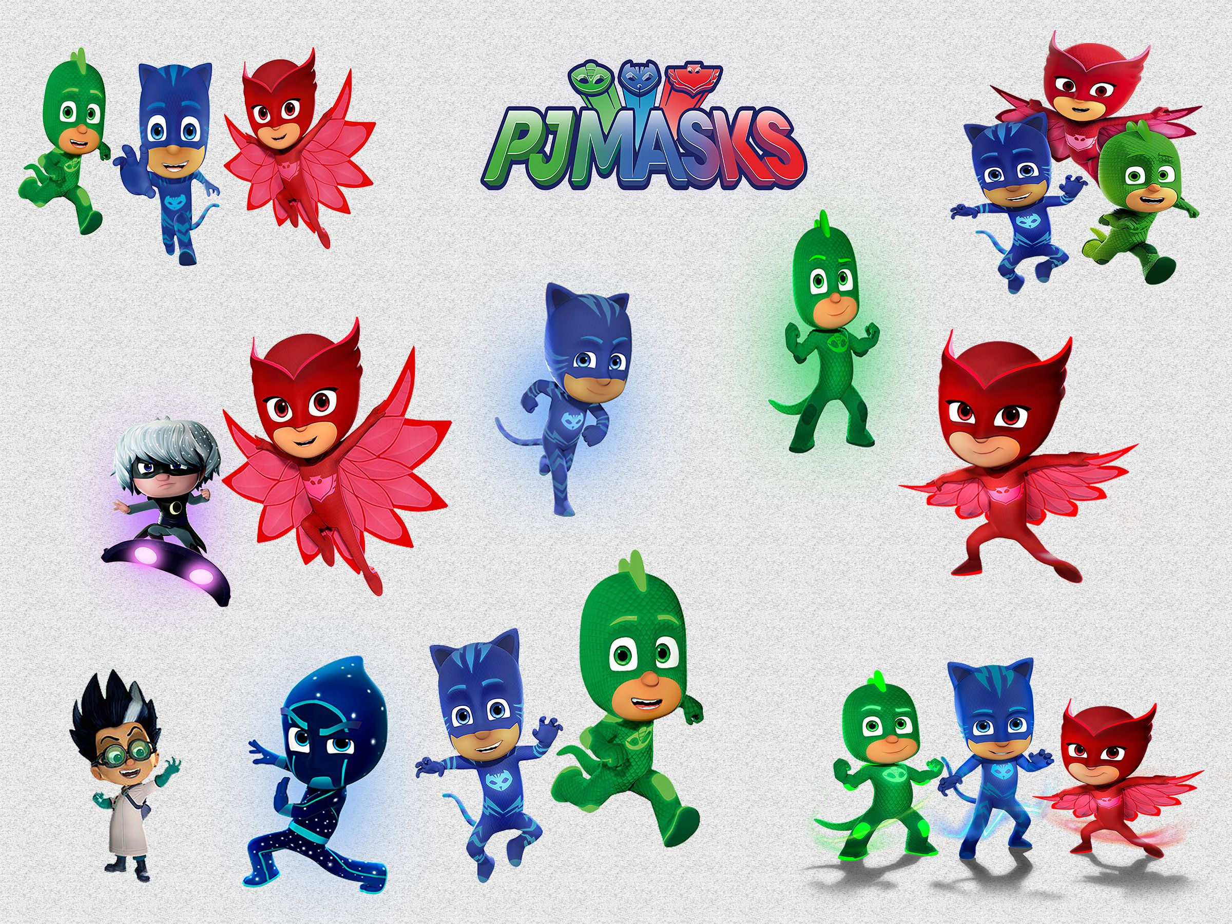 High Quality PJ MASKS CLIPART, 18 High Quality Png Images With Transparent Backgrounds,  300 Dpi Http