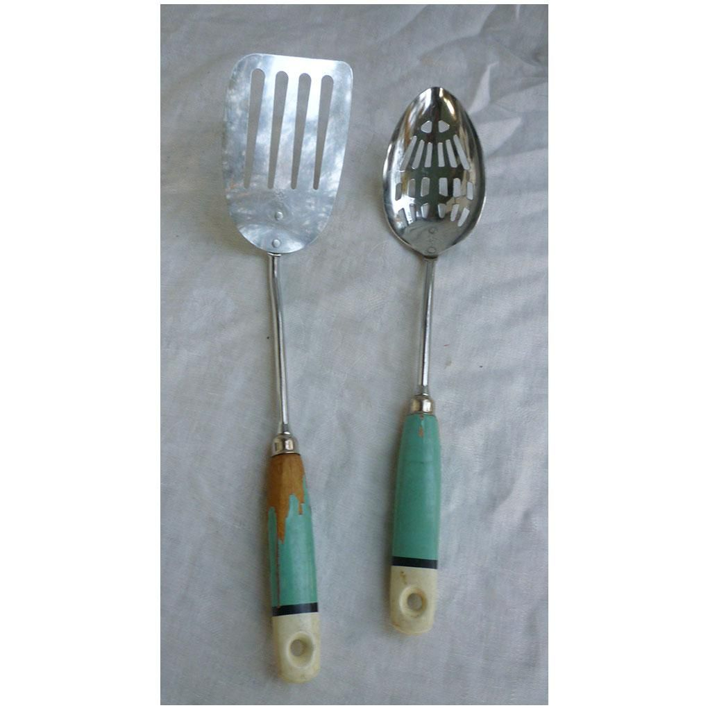 A & J Ekco Slotted Spoon and Spatula Set | Slot, Kitchen utensils ...