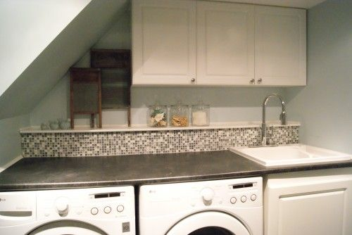 Designer S Touch 10 Tidy Laundry Rooms Laundry Room Bathroom Laundry In Bathroom Basement Laundry Room