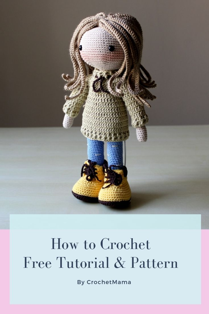 Crochet Doll - Free Tutorial & Pattern #crochetdoll