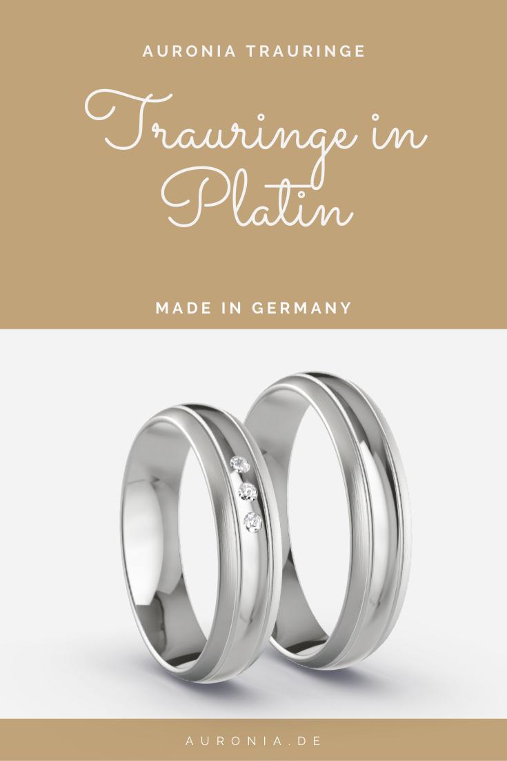 Hochzeitsringe Platin 5 von Auronia, Modell Neubrandenburg