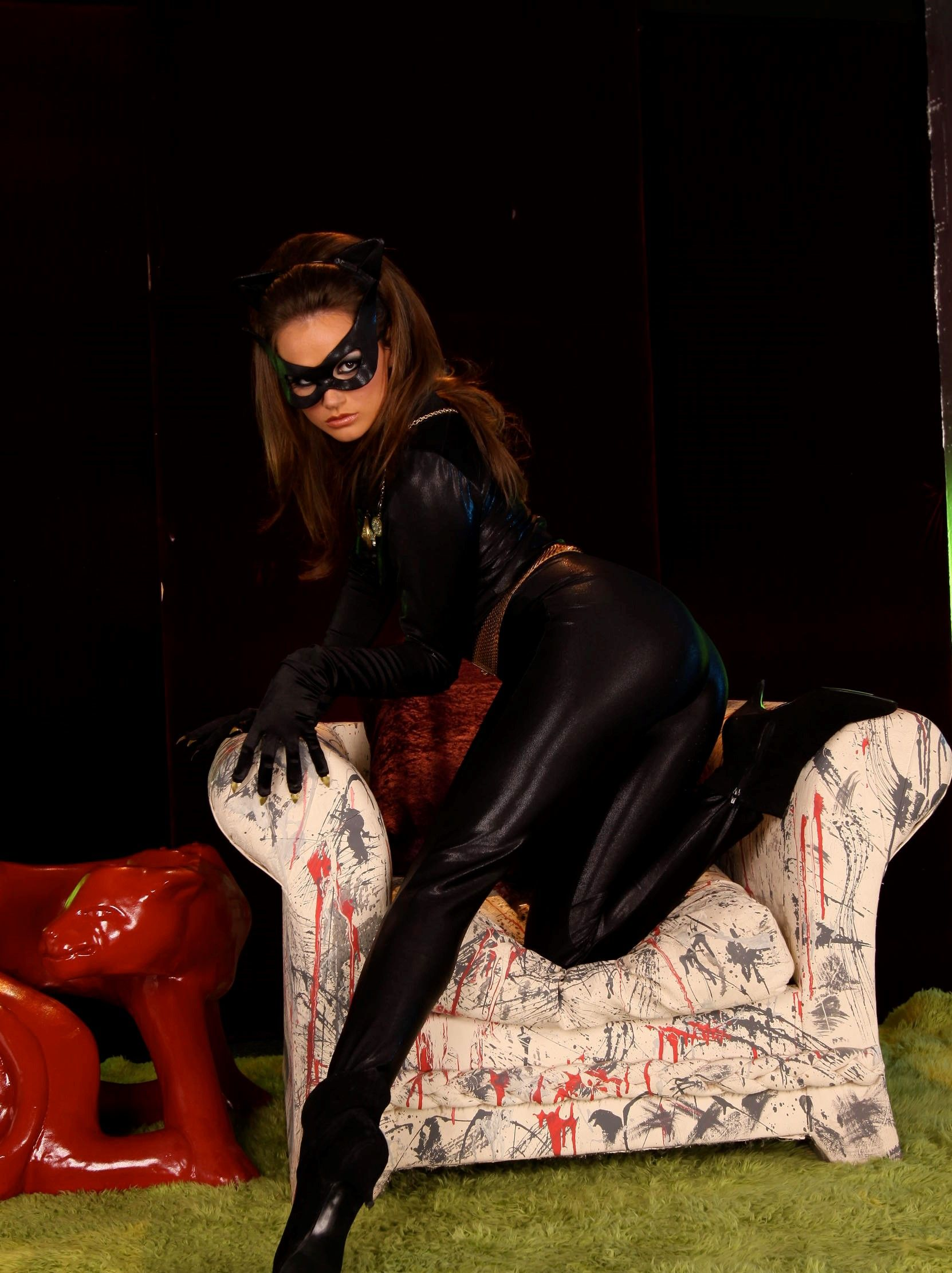 Black catwoman porn