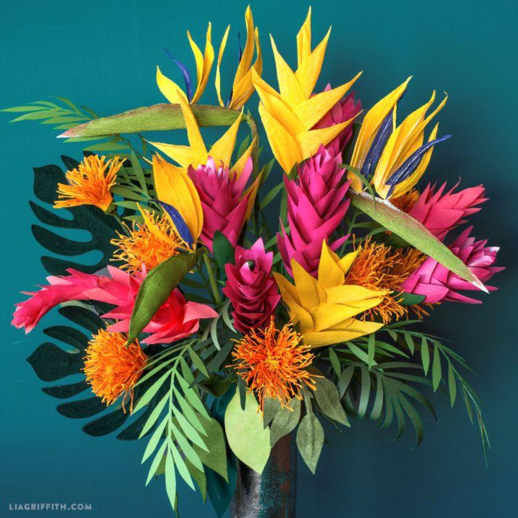 Pacific Islands Floral Bouquet | Paper birds, Floral and Crepe paper