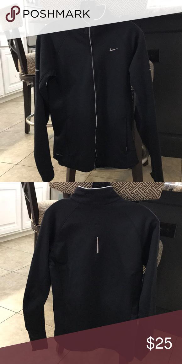 e331c2077146 Nike dri fit jacket Black full zip jacket Great condition Nike Jackets    Coats