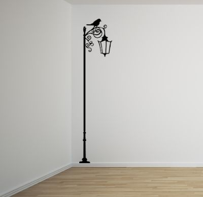 Wrought Iron Lamp Post Wall Decal Diy Wall Painting Creative Wall Painting Wall Art Diy Paint