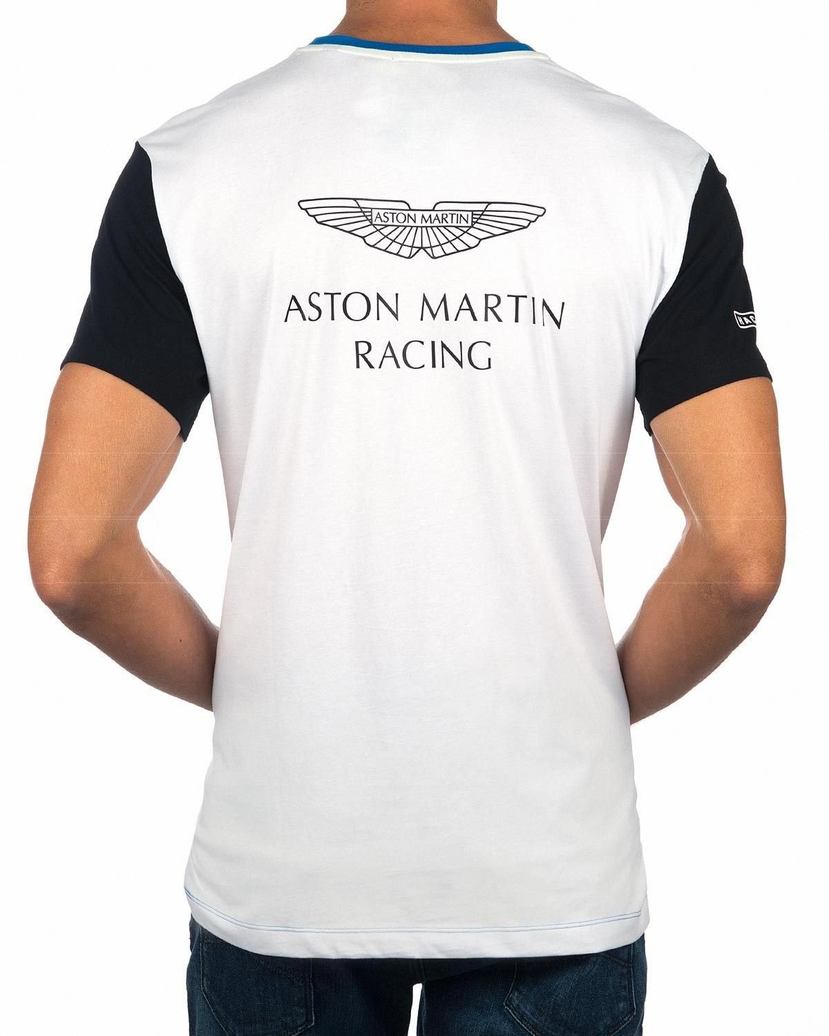 hackett aston martin t shirt - multi | blue & white | menswear