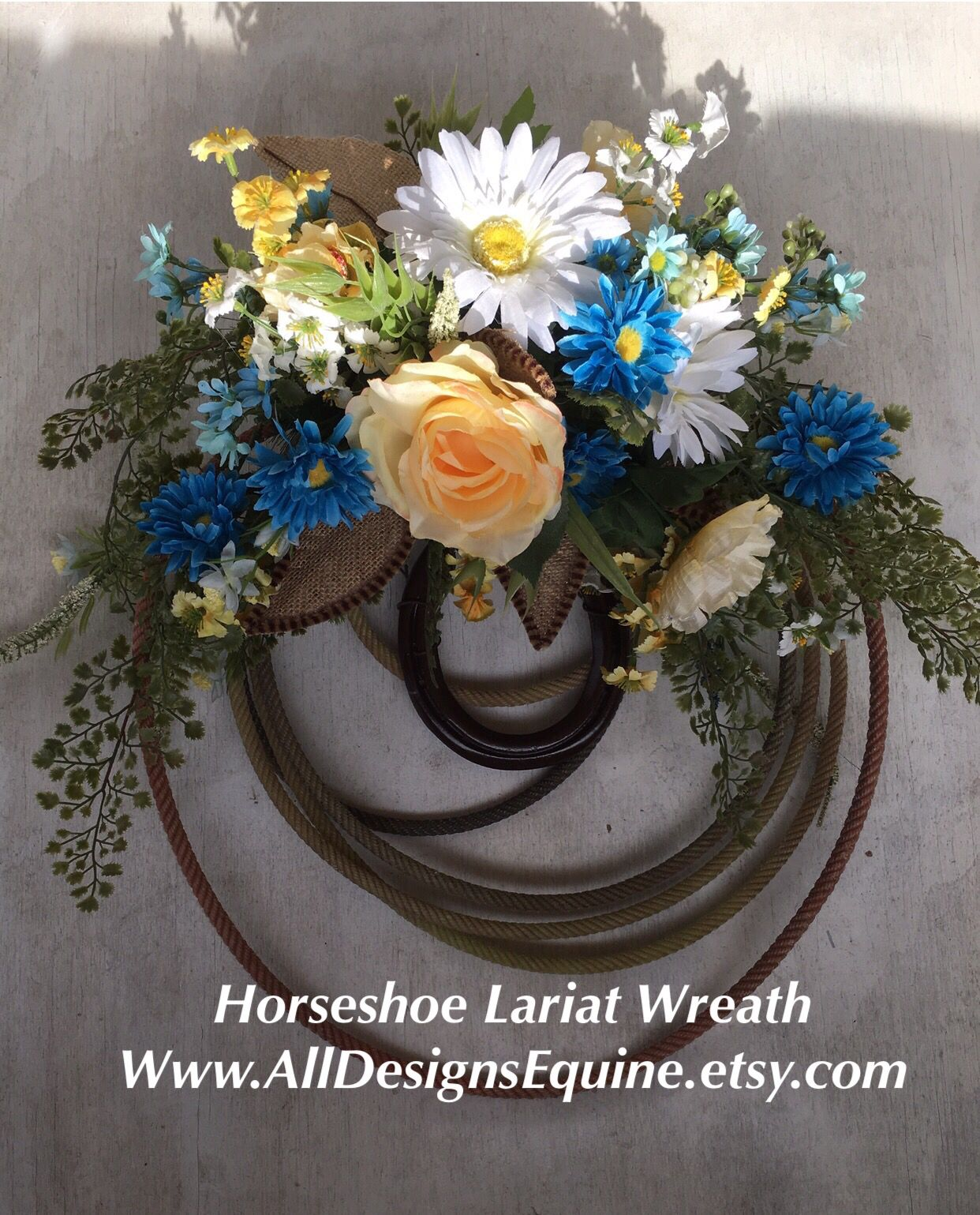 Authentic Lasso And Horse Shoe Wreath Is A Great Way To