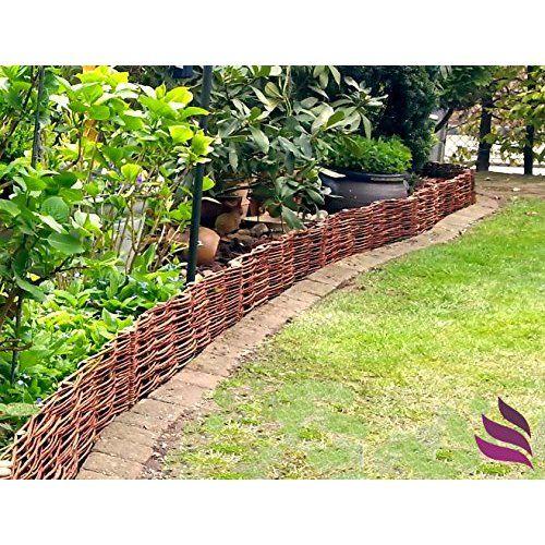 Garten Beetbegrenzung boogardi beetbegrenzung aus weide beeteinfassung in vielen größen