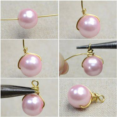 Photo of How to Make Pearl Drop Earrings With Pink Pearls and Golden Wires: 4 Steps (with…