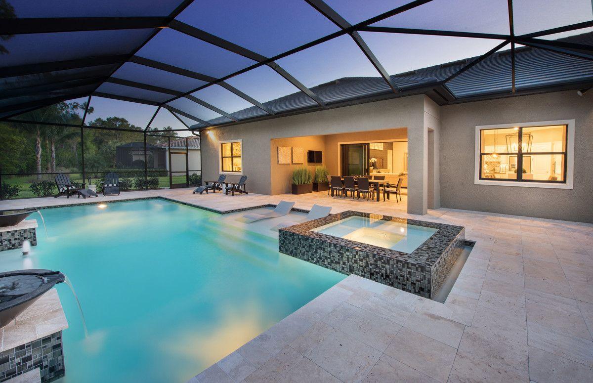 Custom pool and spa New home builders, Home builders