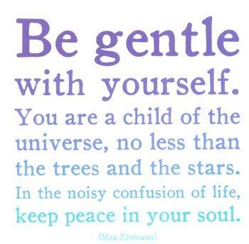 Be gentle...