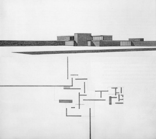 Maison de campagne en brique, 1924 Ludwig Mies Van der Rohe