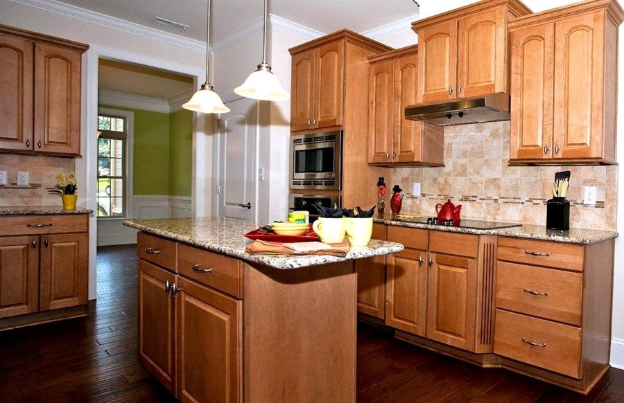natural maple cabinets with granite - Google Search ... on Kitchen Backsplash With Natural Maple Cabinets  id=53034