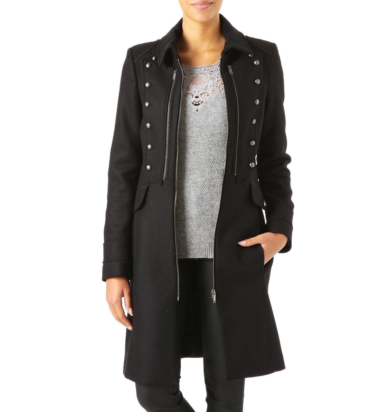 manteau promod achat manteau officier femme promod prix promo promod 99 95 ttc mode. Black Bedroom Furniture Sets. Home Design Ideas