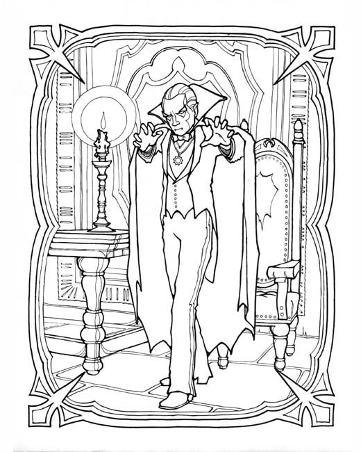 Adult Vampire Coloring Pages Monster Book