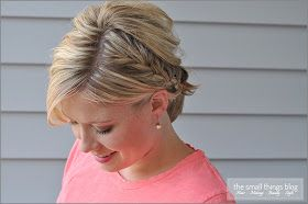 The Small Things Blog: Half French Braid Ponytail