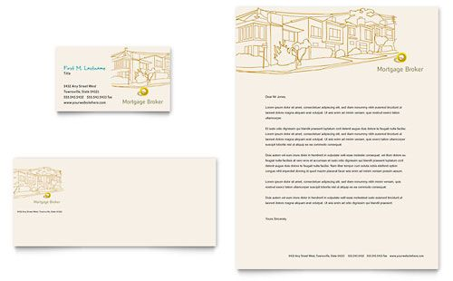 Mortgage Broker  Business Card  Letterhead Template  Social