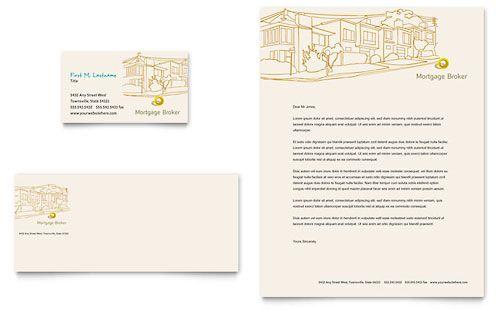 Mortgage Broker - Business Card \ Letterhead Template Social - mortgage templates