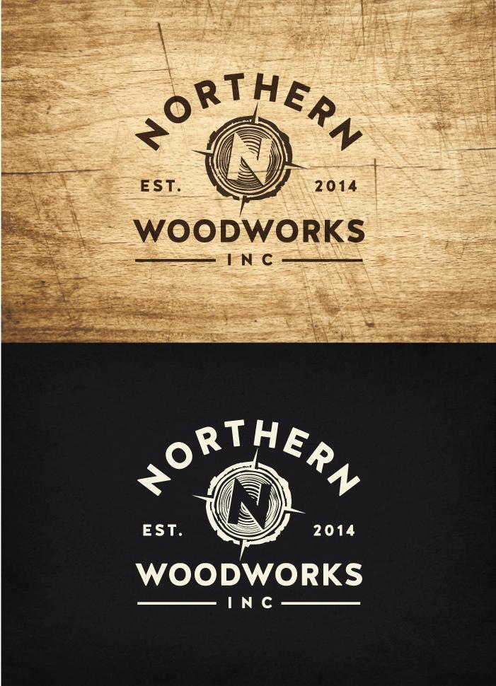 Logo for Northern Woodworks Inc. 99designs Vintage
