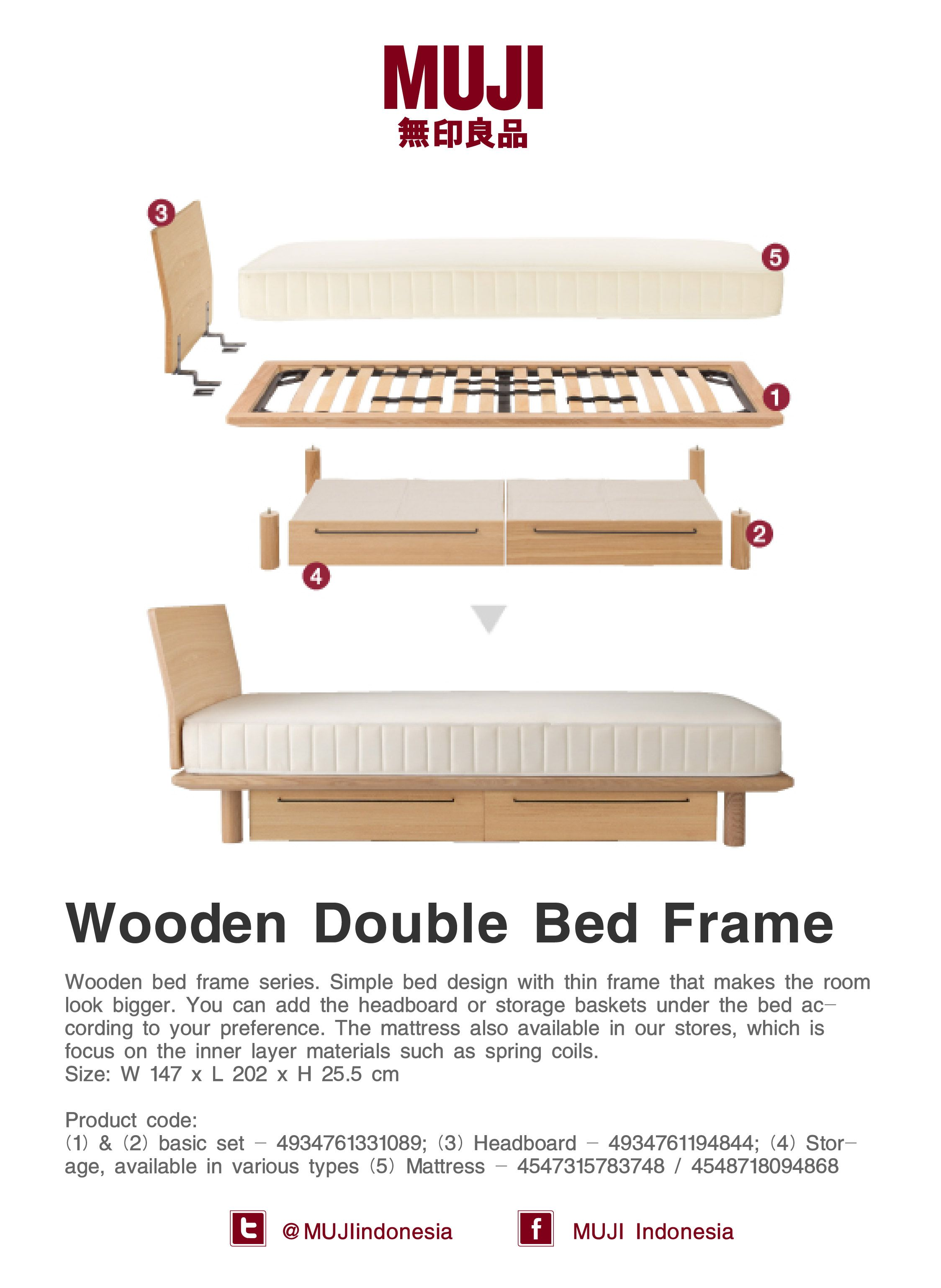 Wooden Double Bed Frame Simple Bed Designs Wooden Double Bed