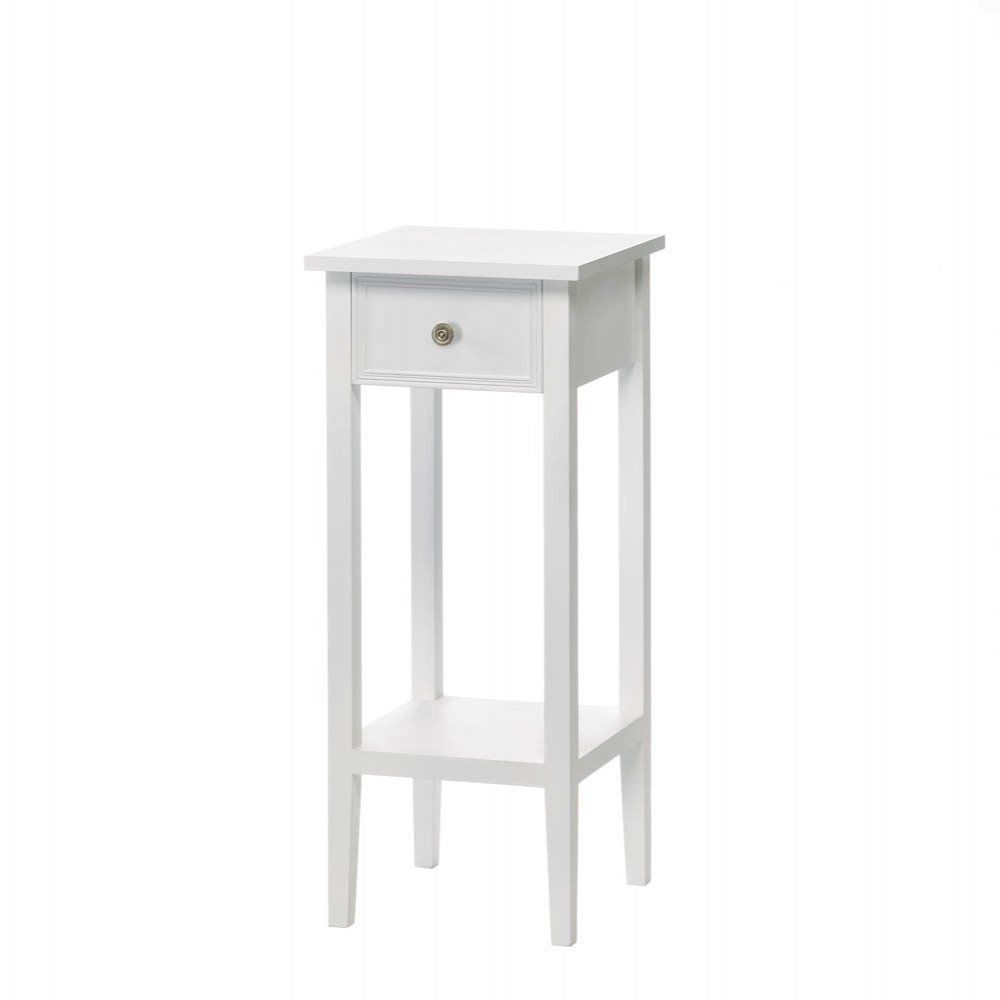 Side table with drawer  Willow White Side Table  White side tables and White hallway furniture