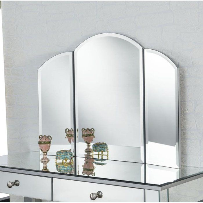 Emerita Arch/Crowned Top Accent Wall Mirror