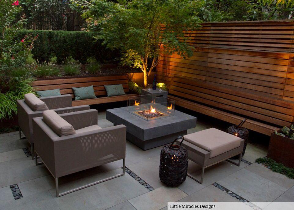 Low Maintenance Garden Seating Area Outdoor