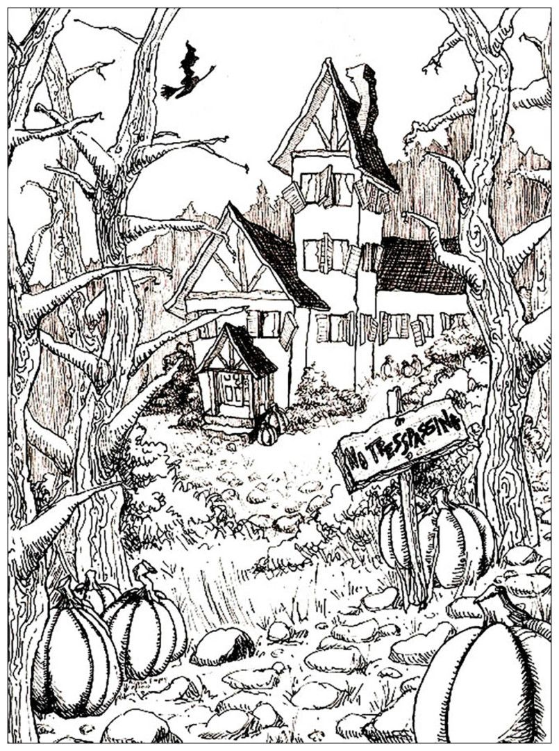 http://colorings.co/halloween-coloring-pages-adults/ #Adults ...