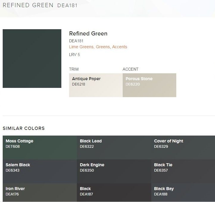 Dunn Edwards Paint Color Refined Green