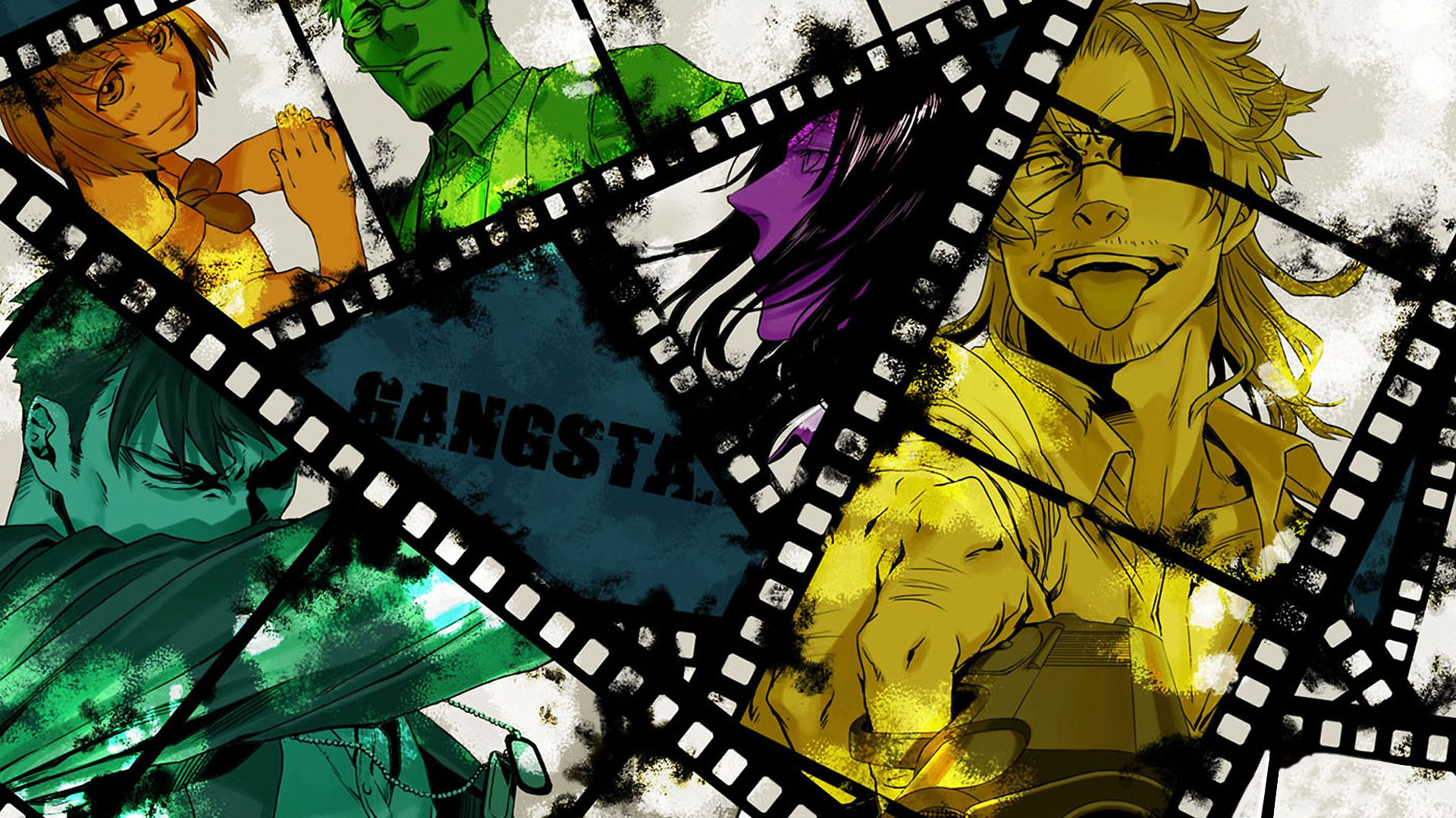 Anime Gangsta. Wallpaper 1080p