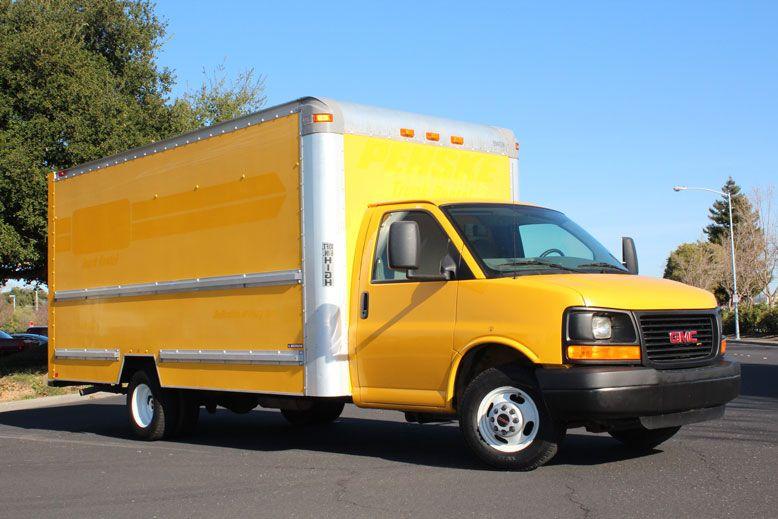 2008 Gmc Savana Cutaway Box Van 10 886 With Images Trucks For Sale Box Van Moving Truck